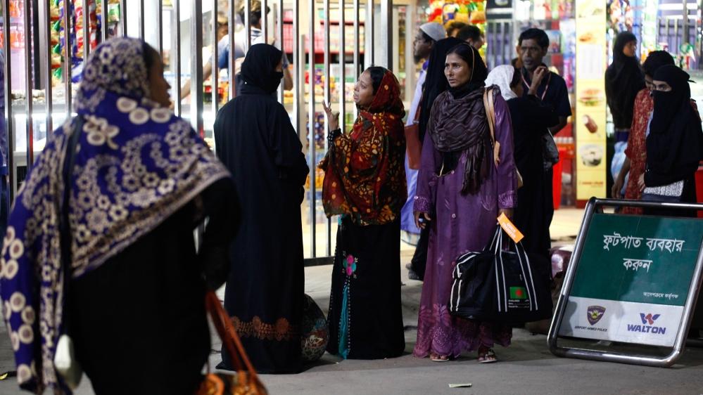 Bangladesh female workers from Saudi Arabia