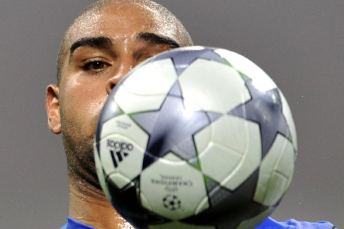 Mourinho has clearly told Brazilian forward Adriano to keep a close eye on the ball [AFP]