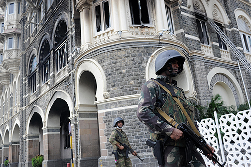 A sustained assault by Indian troops ended a three-day siege at Mumbai's Taj Mahal hotel on Saturday [AFP]