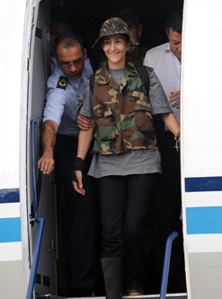 Ingrid Betancourt has been rescued from years of jungle captivity [AFP]