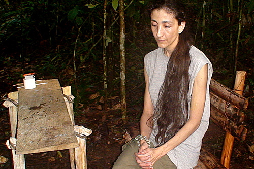 Betancourt had been held in the jungle since her kidnapping by the Revolutionary Armed Forces of Colombia in February 2002 [AFP]