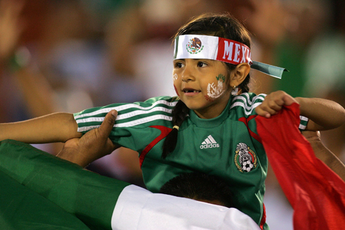 Football fans start young in Mexico [GALLO/GETTY]
