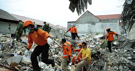 Rescue teams have shifted from searching for survivors to channelling aid to thousands of victims almost a week after a deadly earthquake struck west Sumatra [Reuters]