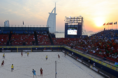 The FIFA Beach Soccer World Cup in Dubai has seen Brazil win their fourth consecutive title on Jumeirah Beach [EPA]