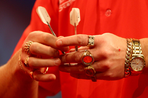 England's Alex Roy prepares for the World Darts Championship at the Alexandra Palace in London [GALLO/GETTY]