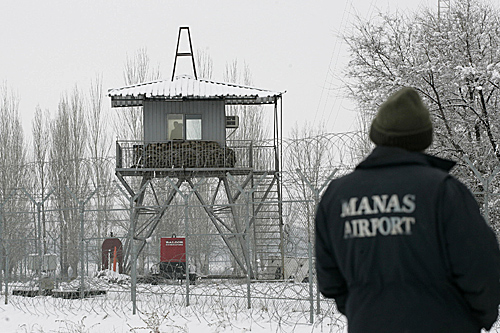 Kyrgyzstan has proposed the closure of a United States air base in Manas, outside the country's capital Bishkek [AFP]