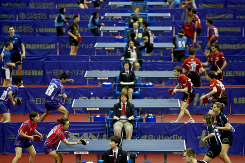 Seeing double at the World Table Tennis Championships in Japan [EPA]