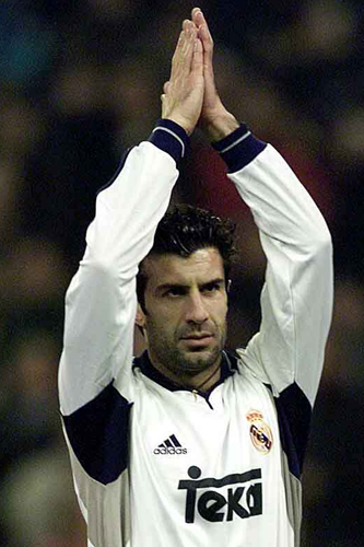 Florentino Perez ushers in the first Galactico era at Real Madrid by signing Luis Figo from hated rivals Barcelona in 2000 [GALLO/GETTY]