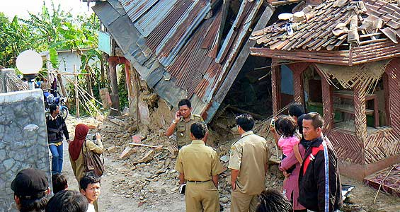 A powerful earthquake rattled Indonesia's main island of Java earlier on Wednesday [AFP]
