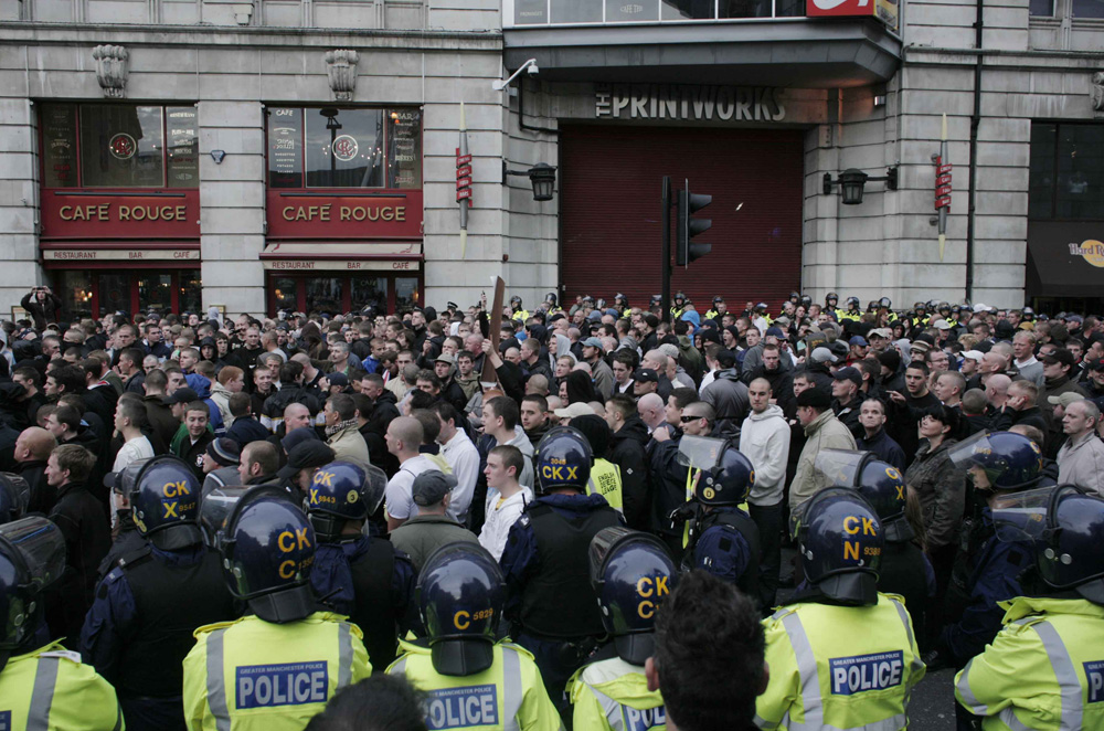 Since its formation in 2009, the English Defence League has held protests in nearly all British cities [Angela Catlin]