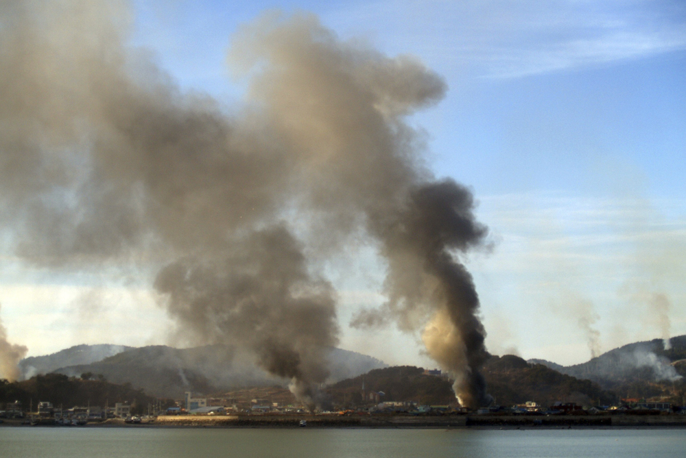 North Korea fired dozens of artillery shells at the South Korean Yeonpyeong island, on November 23, 2010. It was one of the heaviest bombardments on the South since the Korean War ended in 1953.