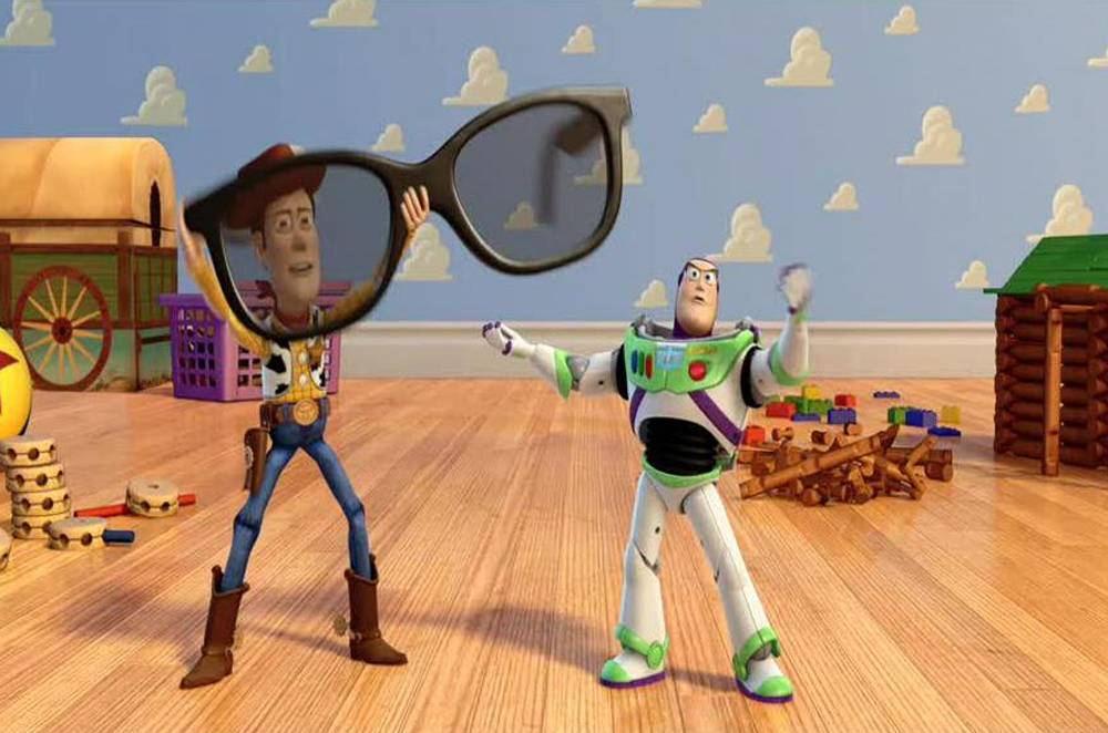 (***)Toy Story 3D(***) - in 2010, 3D glasses became the must-have fashion accessory