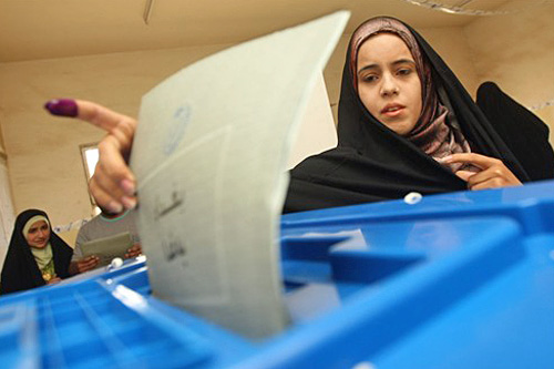 More than 60 per cent of the eligible voters in Iraq cast their ballots in the national elections [AFP]