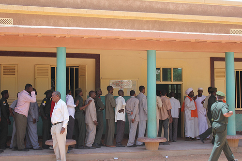 Polling stations opened for more than 16 million registered Sudanese voters in over 10,700 stations on Sunday [Fatma Naib]