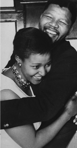 1962: Mandela led armed wing of African National Congress (ANC), in which he co-ordinated sabotage campaigns against government targets. [Mandela with Winnie, his first wife. Keystone/Getty Images]