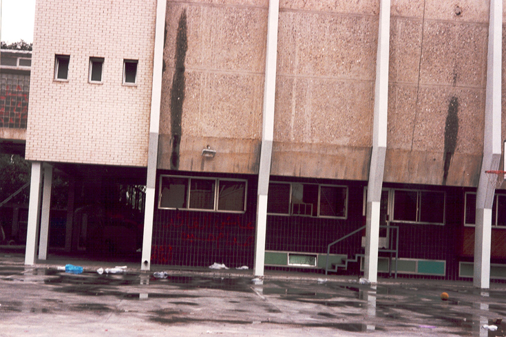 Like many other schools the New English School was used as an army barracks during the Iraqi occupation of Kuwait [NES]