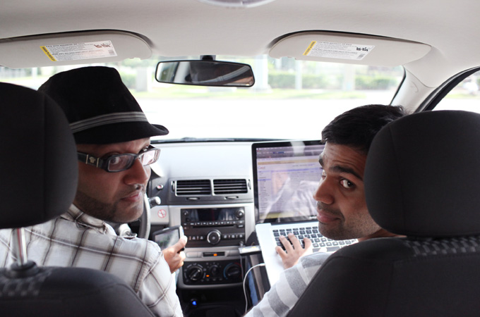 Stand-up comedian Aman Ali and filmmaker Bassam Tariq drove across the US to visit 30 mosques in 30 states over the 30 days of Ramadan [Credit: Bassam Tariq]
