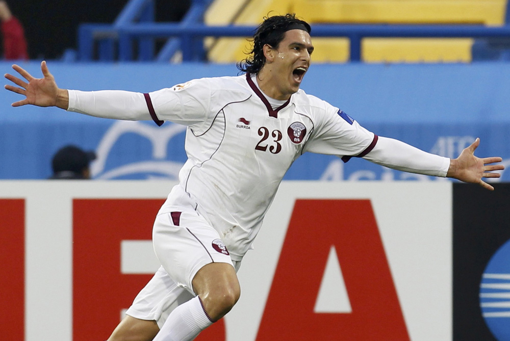 Sebastian Soria puts Qatar 1-0 up against Japan as the hosts look to upset a team 76 FIFA rankings above them [Reuters]