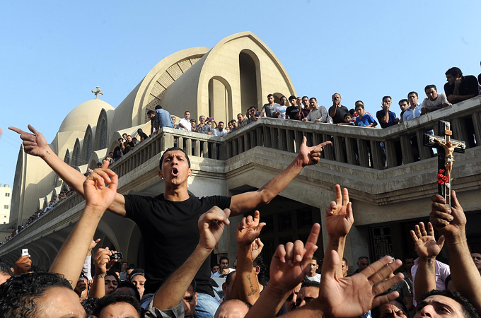 Clashes between Egypt's Coptic Christians and government troops in October left at least 26 dead and 300 hurt  [EPA]