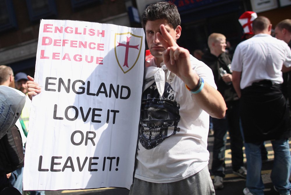 The EDL uses street marches to protest against Islamic extremism. [GALLO/GETTY]