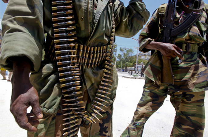 Al-Shabab controls much of southern and central Somalia but neighbouring armies are converging its bases [EPA]