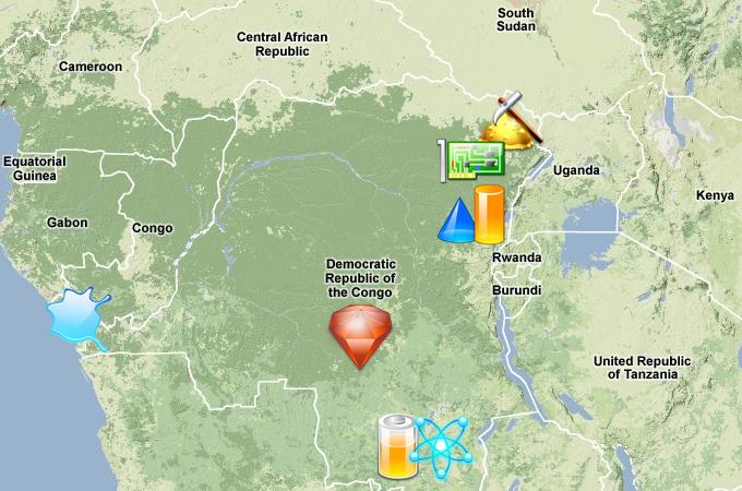 Map: Natural resources in DR Congo   Japan News   Al Jazeera
