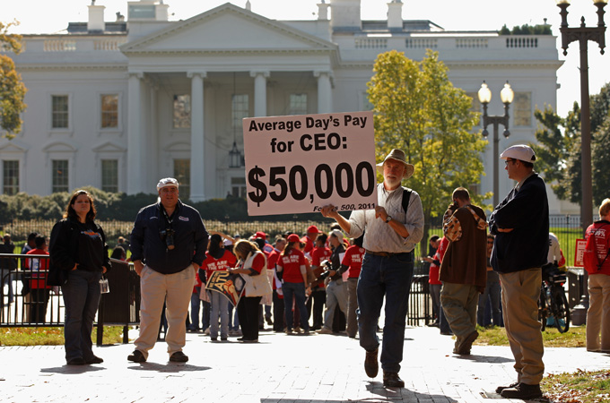 Average day's pay for CEO: $50 000 Forbes 500, 2011