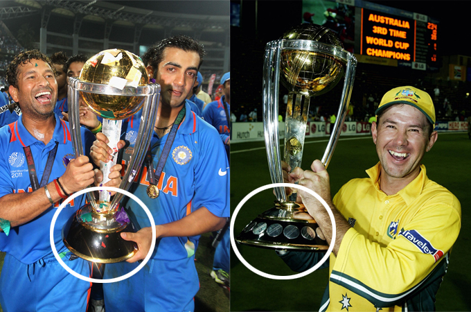 Controversy Over Fake World Cup Trophy Cricket