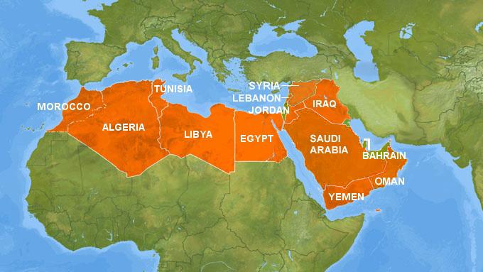 The Arab awakening Al Jazeera English – Map of Arab Spring Countries