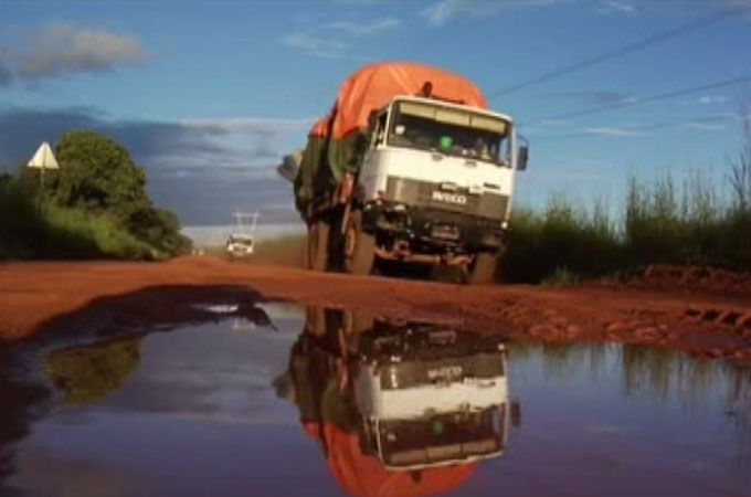 Congolese drivers navigate trucks laden with goods and passengers through mud and jungles for hundreds of kilometres.