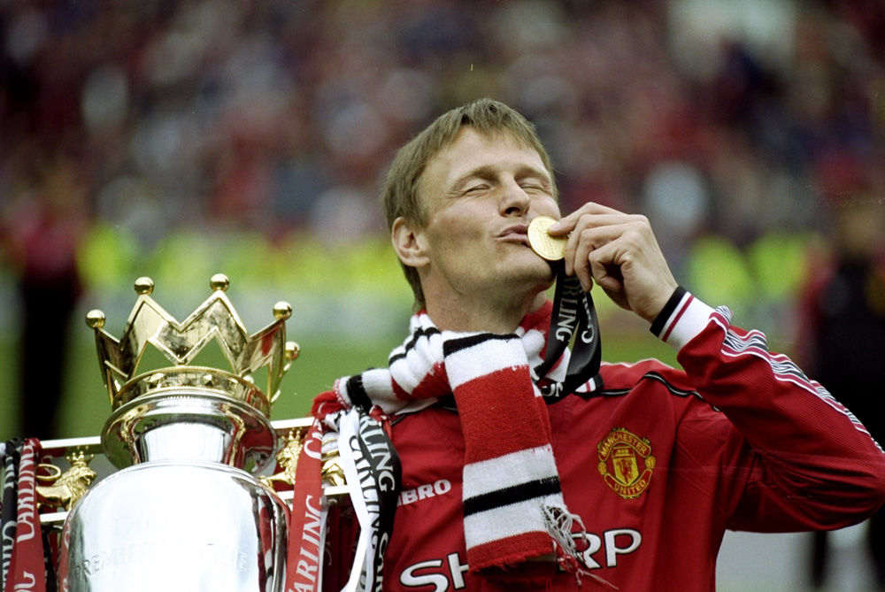By securing the 2010/11 title  Manchester United surpassed Liverpool as the most successful team in English league history with their 19th title. In 1999 Teddy Sheringham and his teammates achieved the greatest moment in the club(***)s history by winning the treble under Alex Ferguson. [GALLO/GETTY]