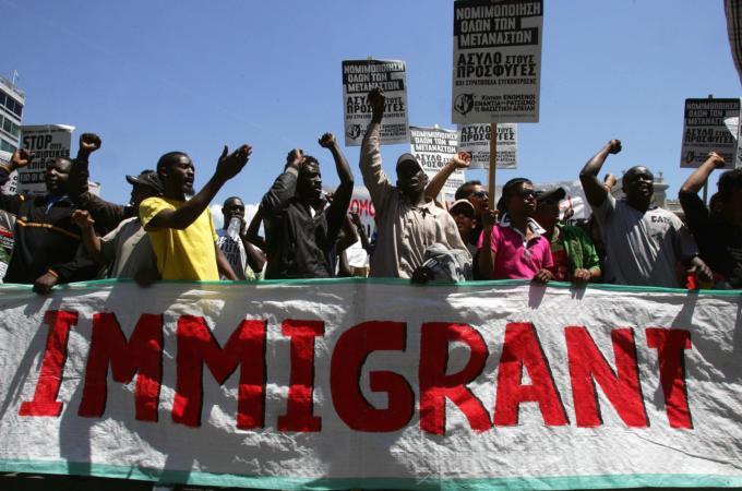 Αποτέλεσμα εικόνας για immigrants protest europe