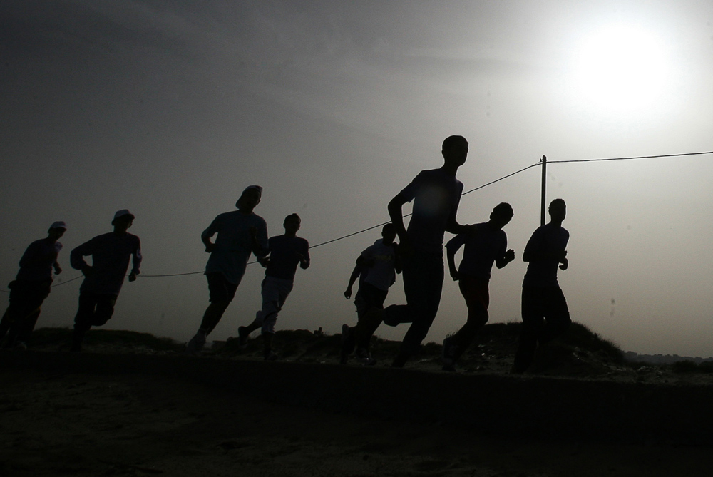 Last week the first ever Gaza Marathon took place, running the entire length of the Gaza strip [EPA]