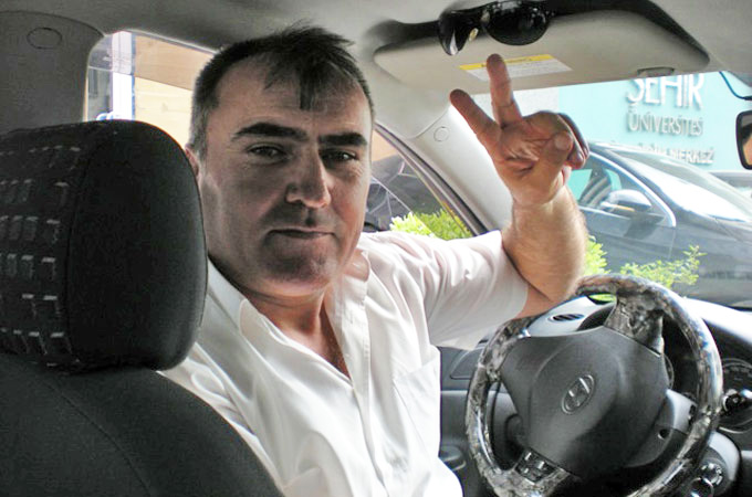 "Cetin Yagmur, a 44-year-old taxi driver, wants to see greater employment opportunities in his country. He has pledged his political loyalty to the CHP, noting that: ""In the past we had a middle class, but that no longer exists, the rich are getting richer and the poor are getting poorer."""