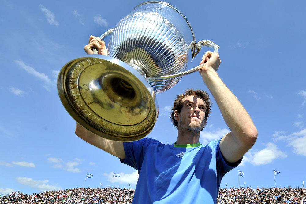 Andy Murray secured his second Queen(***)s victory after beating Jo-Wilfried Tsonga of France on June 13 2011. The Scotsman defeated James Blake in 2009 to win his first. [EPA]