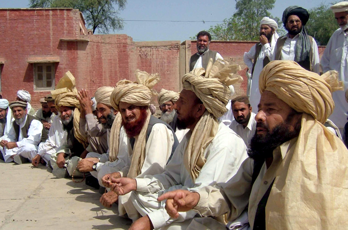 A Jirga Or Tribal Assembly Discusses US Drone Strikes In Pakistan After Predator Attack Killed Three Men South Waziristan EPA