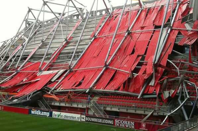 Dutch Stadium Roof Collapses News Al Jazeera