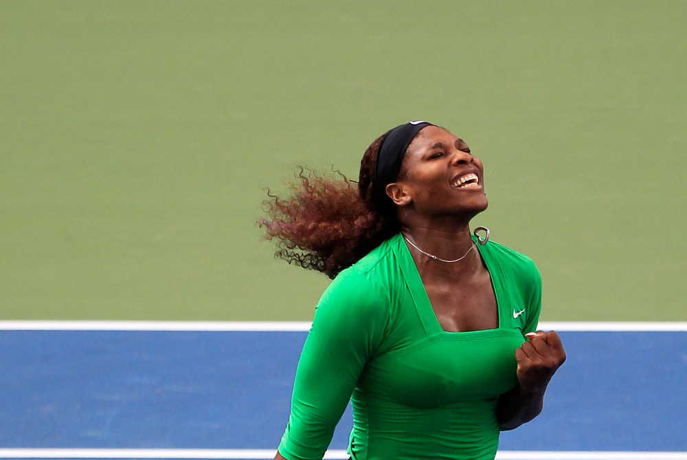 After the delight of winning the Toronto Open on August 14 (pictured) Serena Williams had to pull out of the Cincinnati Open with a toe injury before her second round match. It will be a massive setback for a player who has been struggling with injuries throughout the past year [GALLO/GETTY]