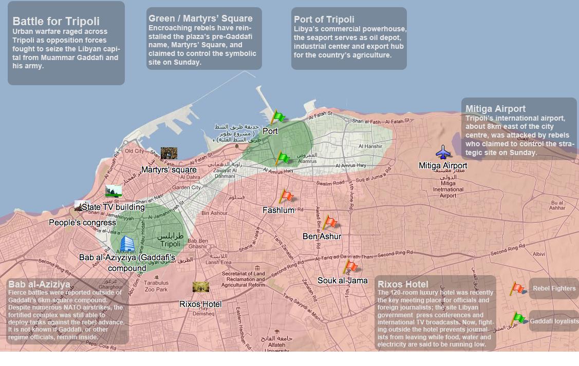 Map Battle for Tripoli Al Jazeera