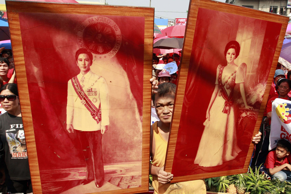 Born on July 2, 1929, Imelda Romualdez was a beauty queen when she married Ferdinand Marcos, then a rising star in the lower house of Congress, in 1954 [EPA]