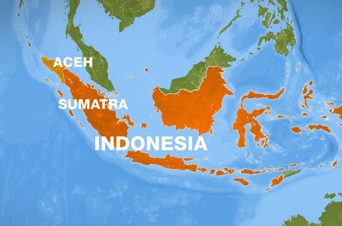 earthquake near indonesia
