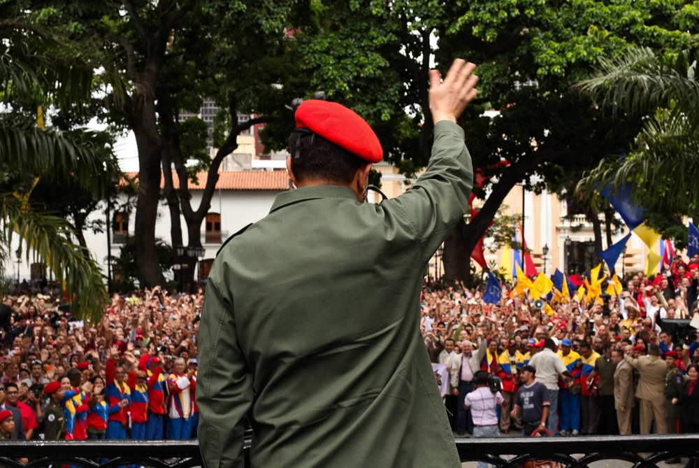 When Hugo Chavez was elected president of Venezuela in 1998, it was on a wave of anger towards the country(***)s traditional ruling elite [EPA]