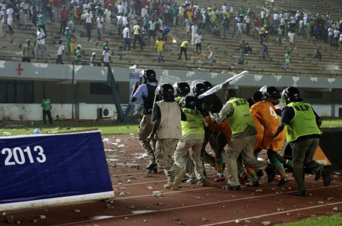 Типичный африканский матч