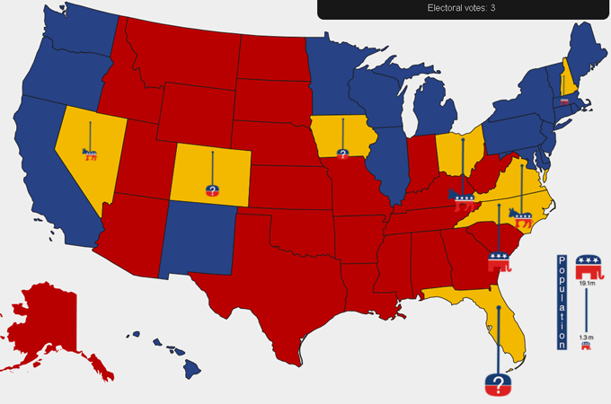 Charting Swing States In US Election Al Jazeera - Map of swing states in the us