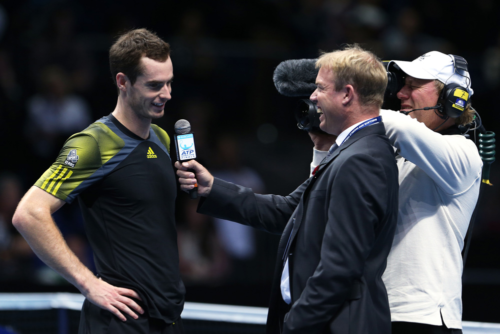 The ATP World Tour Finals is the last big tournament of the year and held in  London(***)s O2 arena. Without doubt the crowd(***)s favourite is Britain(***)s Andy Murray who won his opening game against Tomas Berdych [GALLO/GETTY]