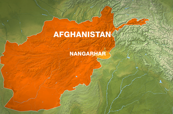 Map showing Nangarhar province in eastern Afghanistan