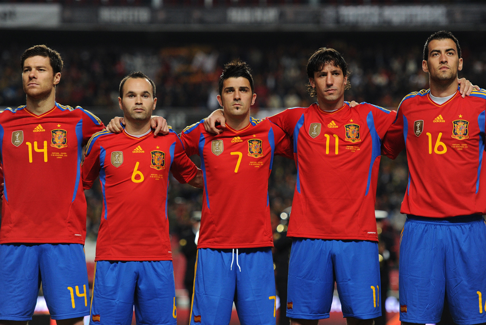 World and European champions Spain unsurprisingly remain at the top of the newly released FIFA rankings. Germany move up one place to reach their highest ranking since May 2009 and the Dutch drop to third [GETTY]