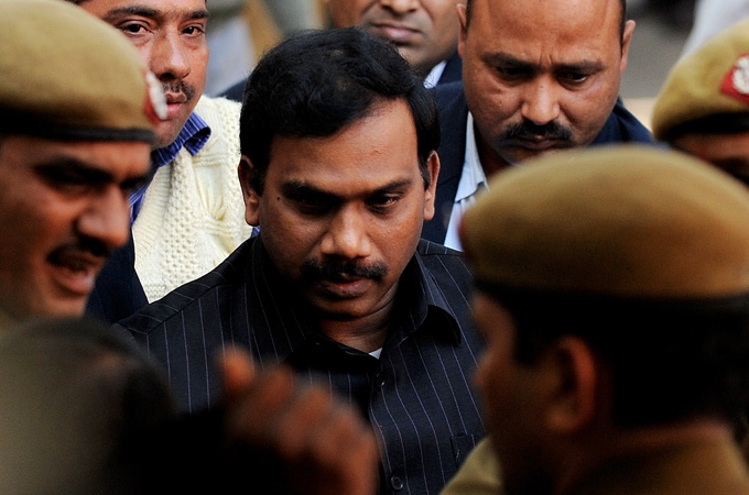India's former telecoms minister Andimuthu Raja is awaiting trial over widespread corruption allegations