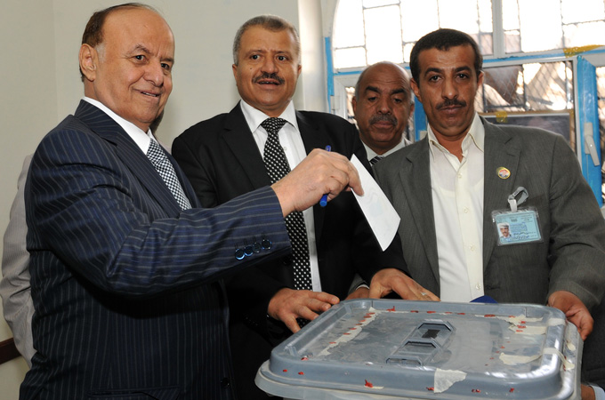 Hadi promised big political, economic and social changes as he cast his vote in a Sanaa neighbourhood on Tuesday
