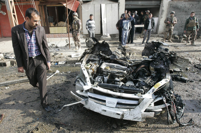 A string of coordinated attacks and explosions have rocked Iraq, hitting Baghdad, Tikrit, Taji, and Hilla